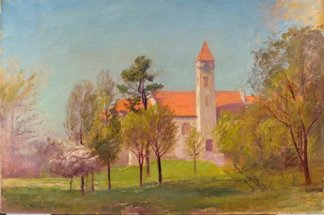 Campus Tower по Theodore Clement Steele (1847-1926, United States) | ArtsDot.com