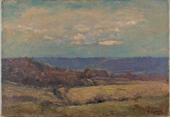 поздняя осень в Valley по Theodore Clement Steele (1847-1926, United States)