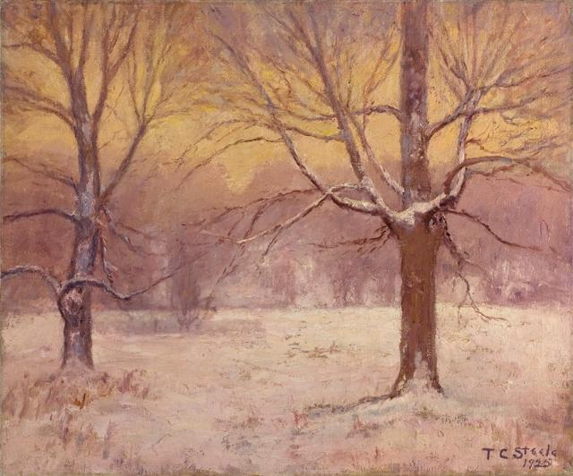 Winter Днем , Jordan Поле по Theodore Clement Steele (1847-1926, United States)