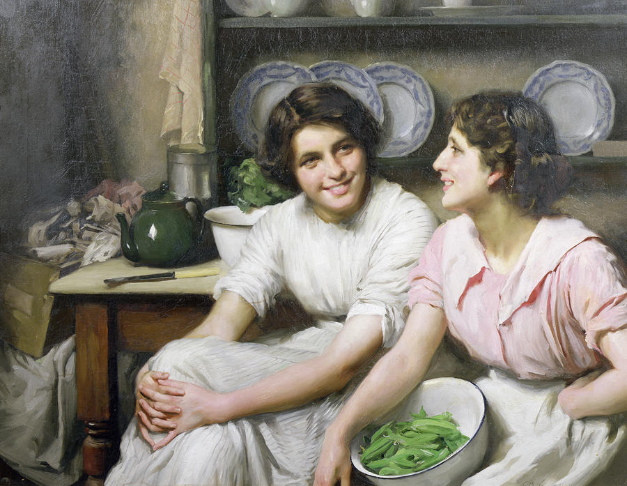 Chatterboxes, 1890 по Thomas Benjamin Kennington (1856-1916, United Kingdom)