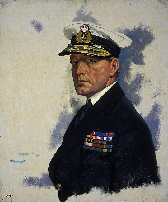 Дэвид Битти, 1-й граф Битти по William Newenham Montague Orpen (1878-1931, Ireland)
