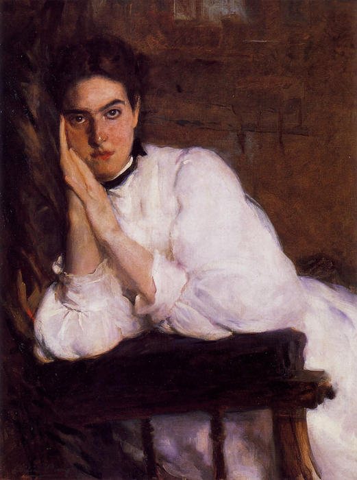Мечтатель, 1894 по Cecilia Beaux (1855-1942, United States)