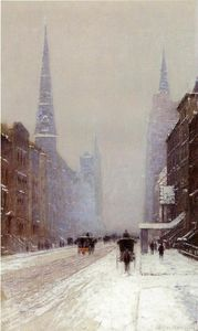 Lowell Birge Harrison - Пятая авеню в Winter