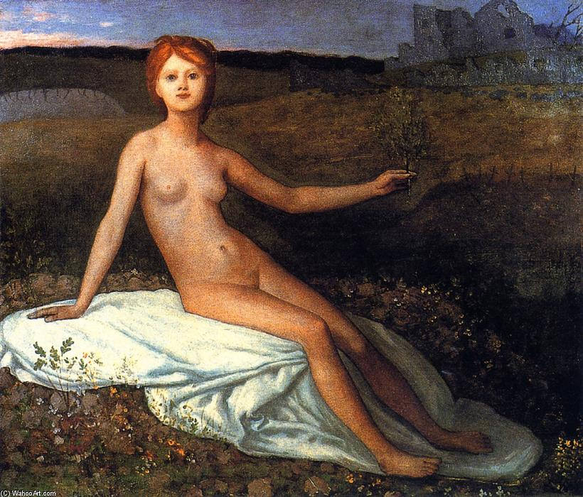 Надеяться, 1872 по Pierre Puvis De Chavannes (1824-1898, France)
