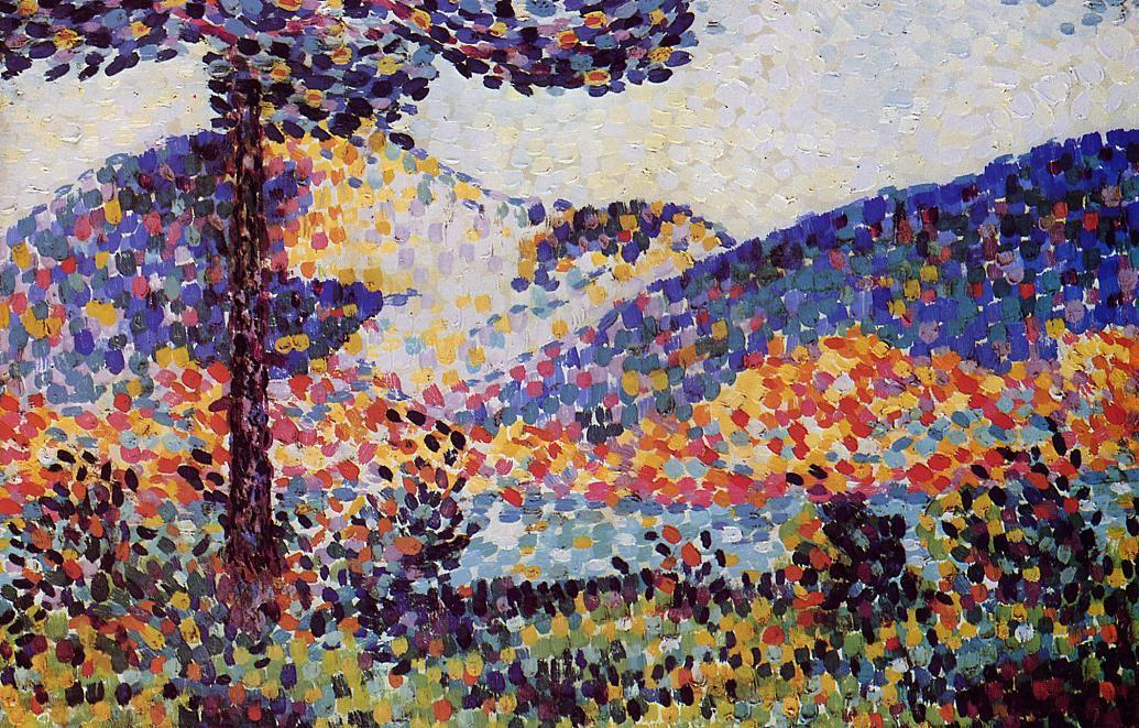 Пейзаж по Henri Edmond Cross (1856-1910, France)