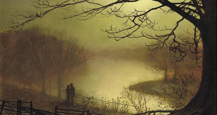 Раундхей Озеро по John Atkinson Grimshaw (1836-1893, United Kingdom)