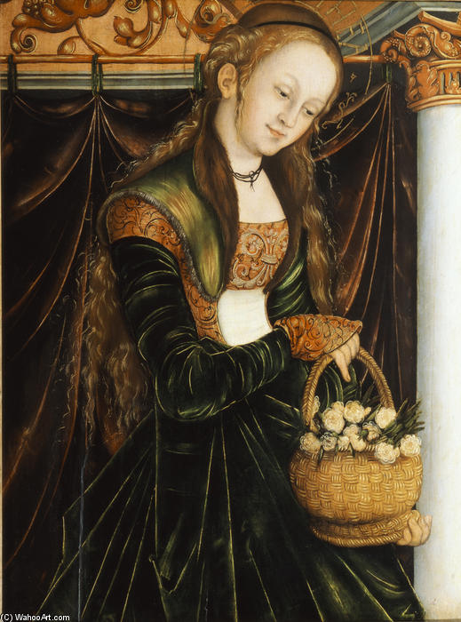 Санкт-Доротея, 1530 по Lucas Cranach The Elder (1472-1553, Germany)