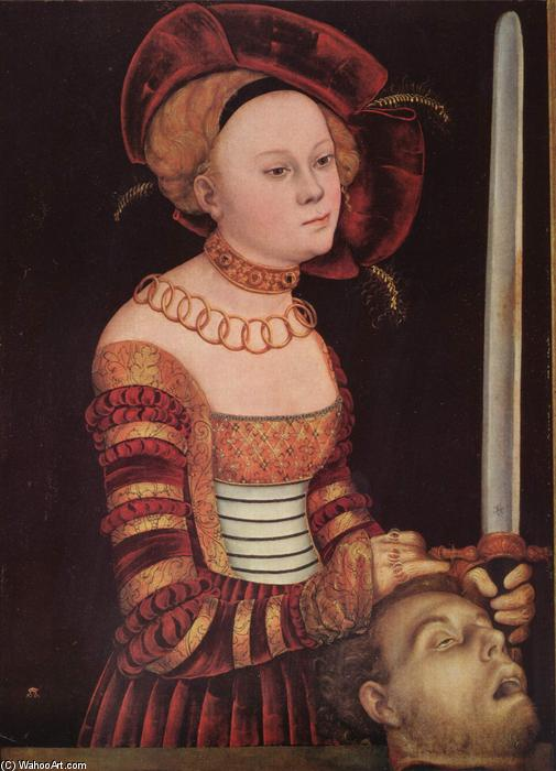 джудит, масло по Lucas Cranach The Elder (1472-1553, Germany)