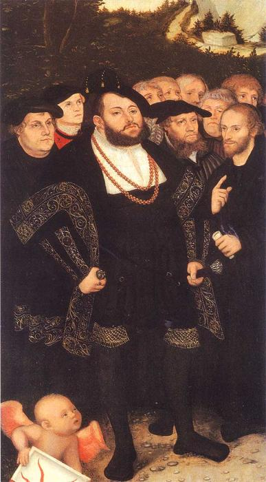 Reformators, 1535 по Lucas Cranach The Elder (1472-1553, Germany)
