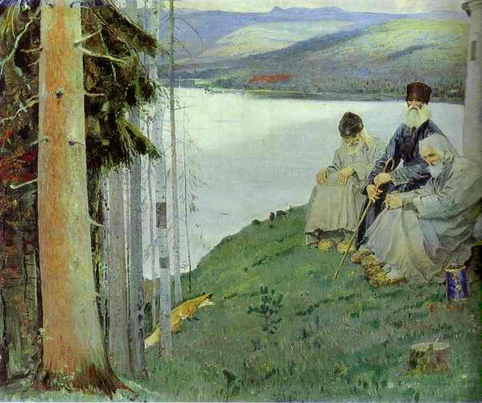Литт Фокс, 1914 по Mikhail Nesterov (1862-1942, Russian Empire)