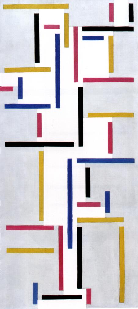 русский бал, холст, масло по Theo Van Doesburg (1883-1931, Netherlands)
