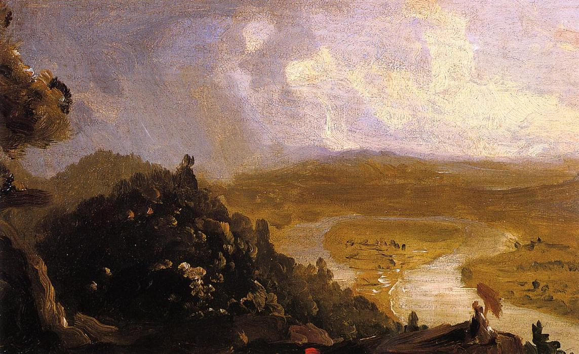 Эскиз к Oxbow, 1836 по Thomas Cole (1801-1848, United Kingdom)