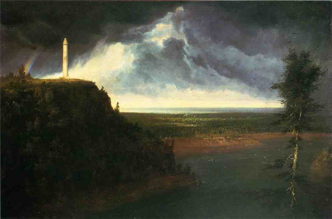 Brock`s-Monument, холст, масло по Thomas Cole (1801-1848, United Kingdom)