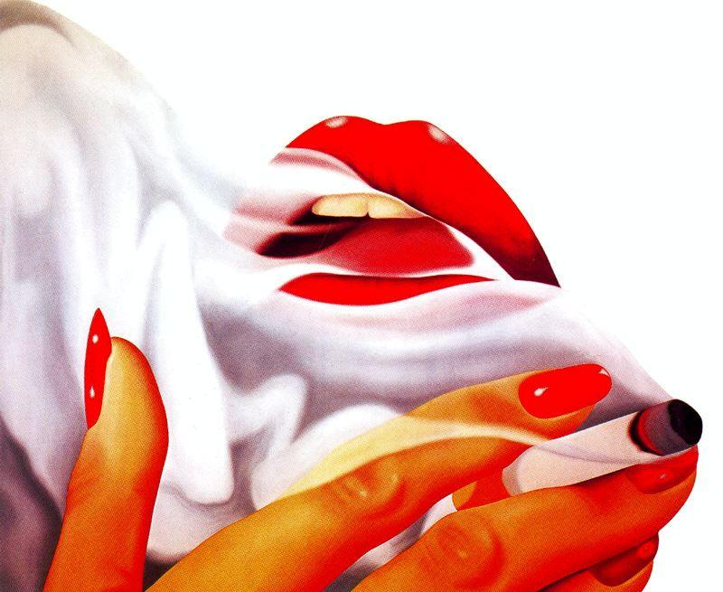 Курильщик по Tom Wesselmann (1931-2004, United States)