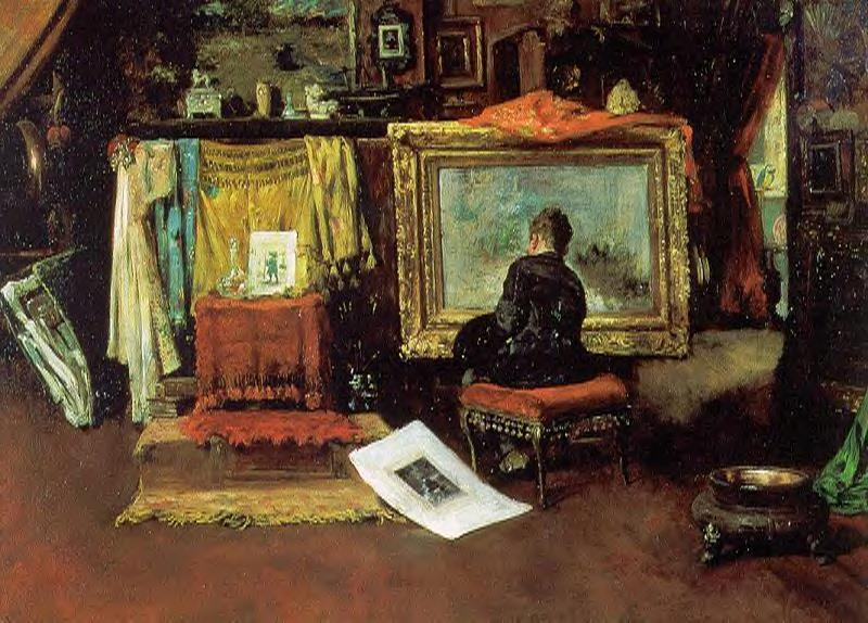 Десятый Улица Студия, холст, масло по William Merritt Chase (1849-1916, United States)