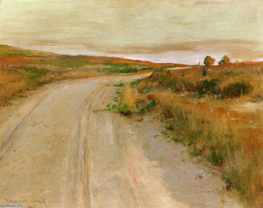В Shinnecock Хиллз по William Merritt Chase (1849-1916, United States)