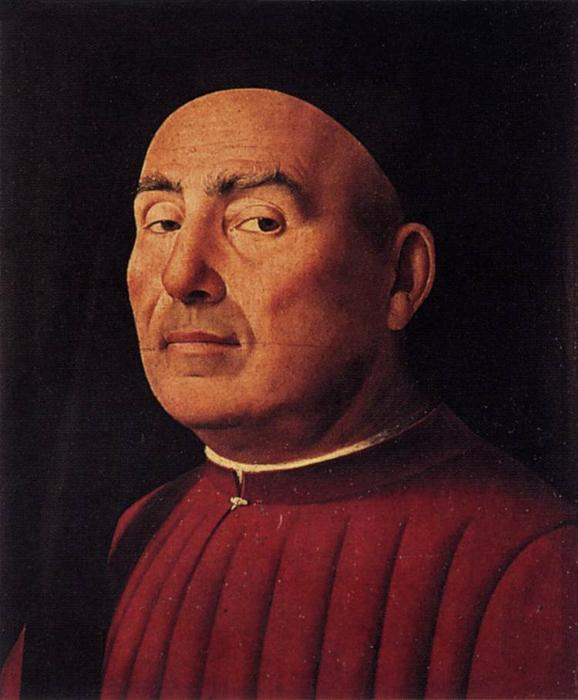 Тривульцио Портрет, 1476 по Antonello Di Giovanni Di Antonio (Antonello Da Messina) (1430-1479, Italy)