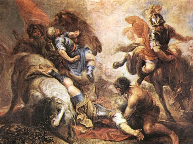 В Conversion of Св Paul, холст, масло по Juan Antonio Frias Y Escalante (1633-1669, Spain)