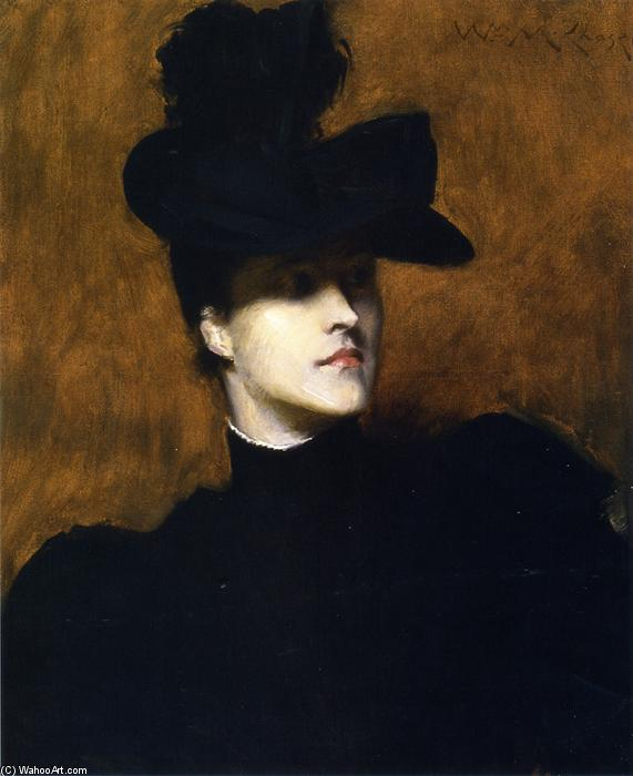 Лидия поле Эммет, 1900 по William Merritt Chase (1849-1916, United States)
