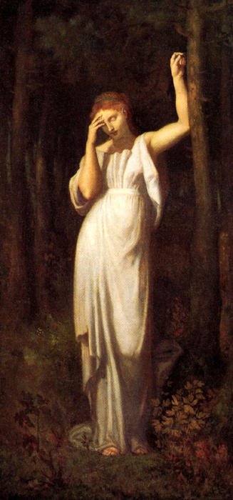 Медитация, холст, масло по Pierre Puvis De Chavannes (1824-1898, France)