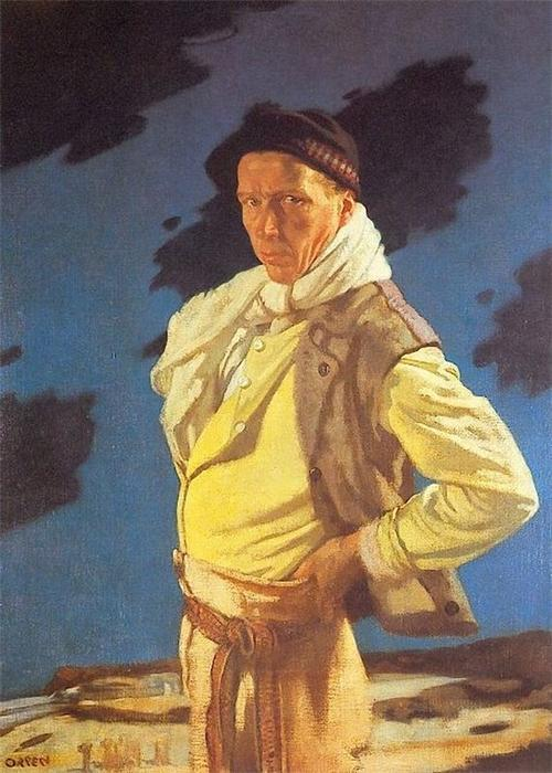 Человек из Арана, 1909 по William Newenham Montague Orpen (1878-1931, Ireland)