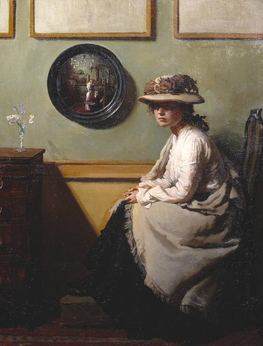 Зеркало, 1900 по William Newenham Montague Orpen (1878-1931, Ireland)