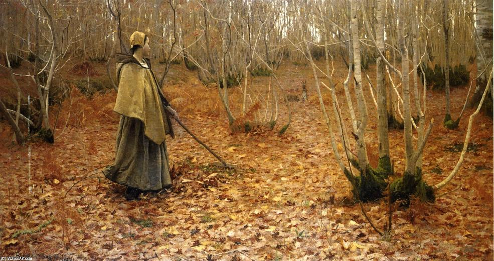 Ноябрь, 1881 по Lowell Birge Harrison (1854-1929, United States)