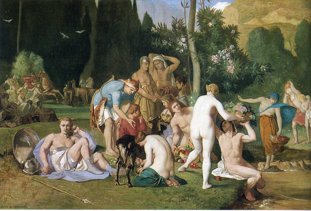 Мир, 1867 по Pierre Puvis De Chavannes (1824-1898, France)