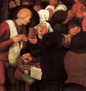 Pieter Bruegel The Elder - Крестьянин свадьбу  фрагмент