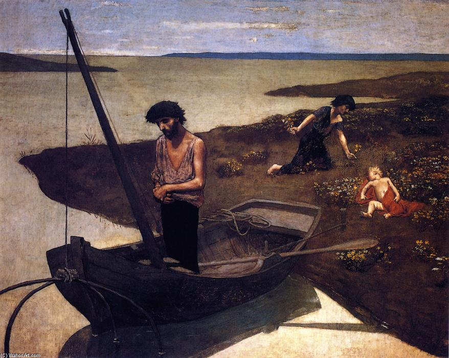 Плохо Рыбак, 1881 по Pierre Puvis De Chavannes (1824-1898, France)