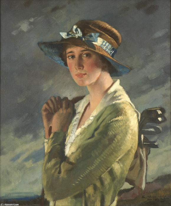 Портрет Долли Стайлз по William Newenham Montague Orpen (1878-1931, Ireland)