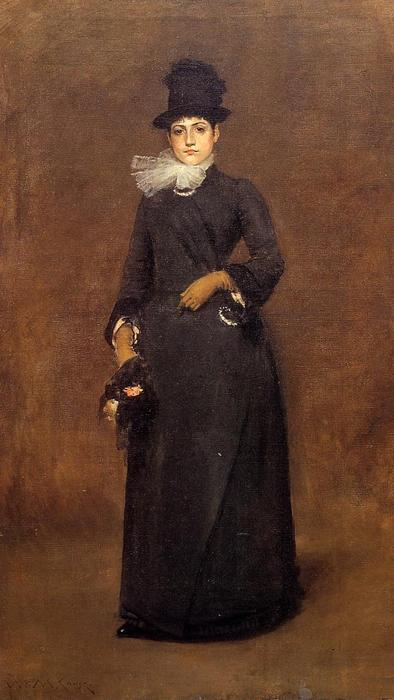 Готов для    Прогулка  Беатрис  клаф bachmann , холст, масло по William Merritt Chase (1849-1916, United States)