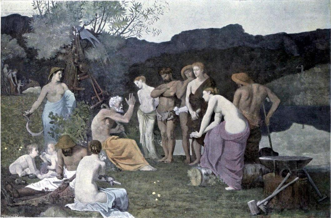 Отдых по Pierre Puvis De Chavannes (1824-1898, France)