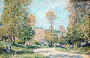 Alfred Sisley - Дорога к Louveciennes