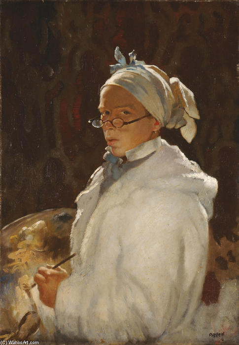 Автопортрет с Очки, 1907 по William Newenham Montague Orpen (1878-1931, Ireland) | Репродукции Музея | ArtsDot.com