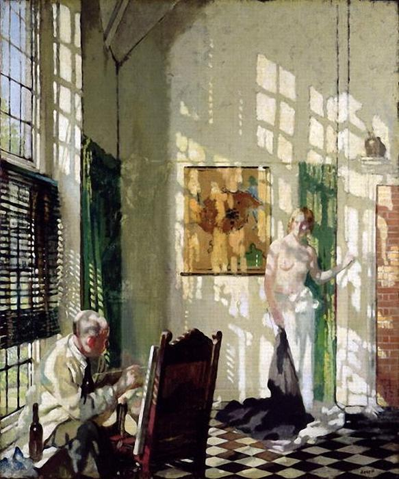 Номер-студио по William Newenham Montague Orpen (1878-1931, Ireland)