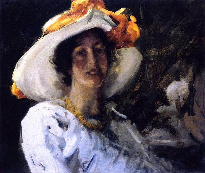 Исследование Клара Stephens, 1913 по William Merritt Chase (1849-1916, United States)