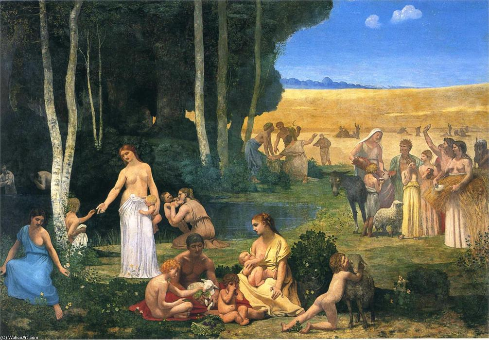 летние по Pierre Puvis De Chavannes (1824-1898, France)