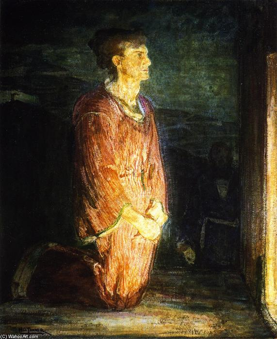 два disciples на могиле, масло по Henry Ossawa Tanner (1859-1937, United States)