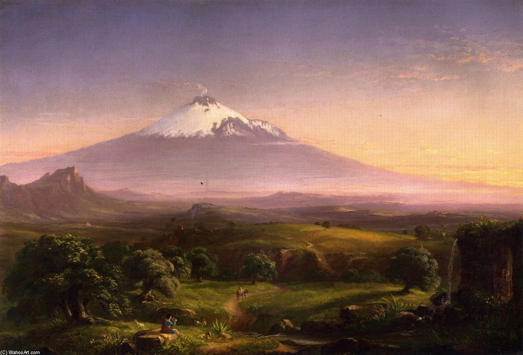 Вид Mt. Этна, 1842 по Thomas Cole (1801-1848, United Kingdom)