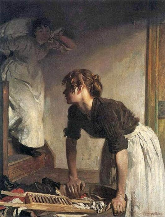 wash Дома по William Newenham Montague Orpen (1878-1931, Ireland)