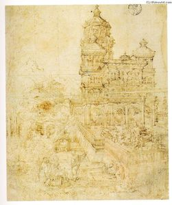 Albrecht Altdorfer - Overall sketch самого the picture Susanna and старейшины