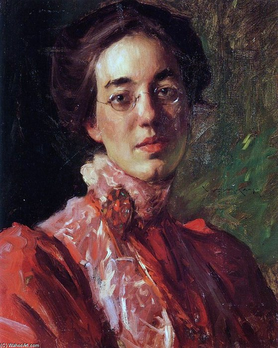 Элизабет Фишер по William Merritt Chase (1849-1916, United States)