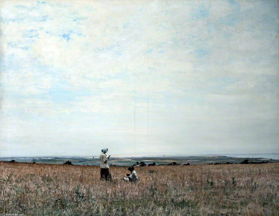 Fields Of Ballacallow, Остров Мэн по William Page Atkinson Wells (1871-1923, United Kingdom) | ArtsDot.com