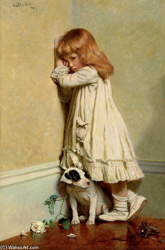 В Позора - по Charles Burton Barber (1845-1894, United Kingdom)