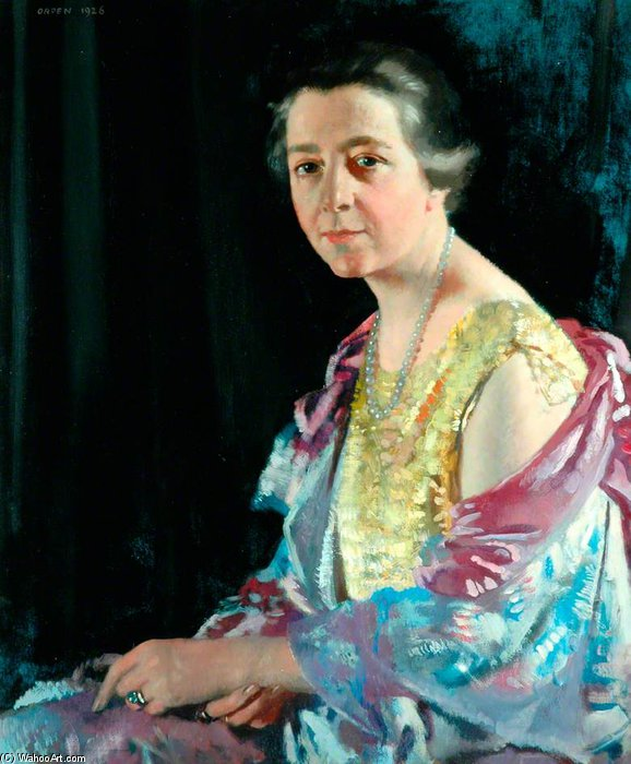 Миссис Томас Ховарт по William Newenham Montague Orpen (1878-1931, Ireland) | Картина Копия | ArtsDot.com