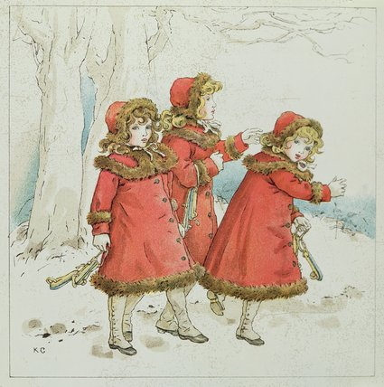 'winter' с апреля Baby's книга Tunes по Kate Greenaway (1846-1901, United Kingdom) | ArtsDot.com