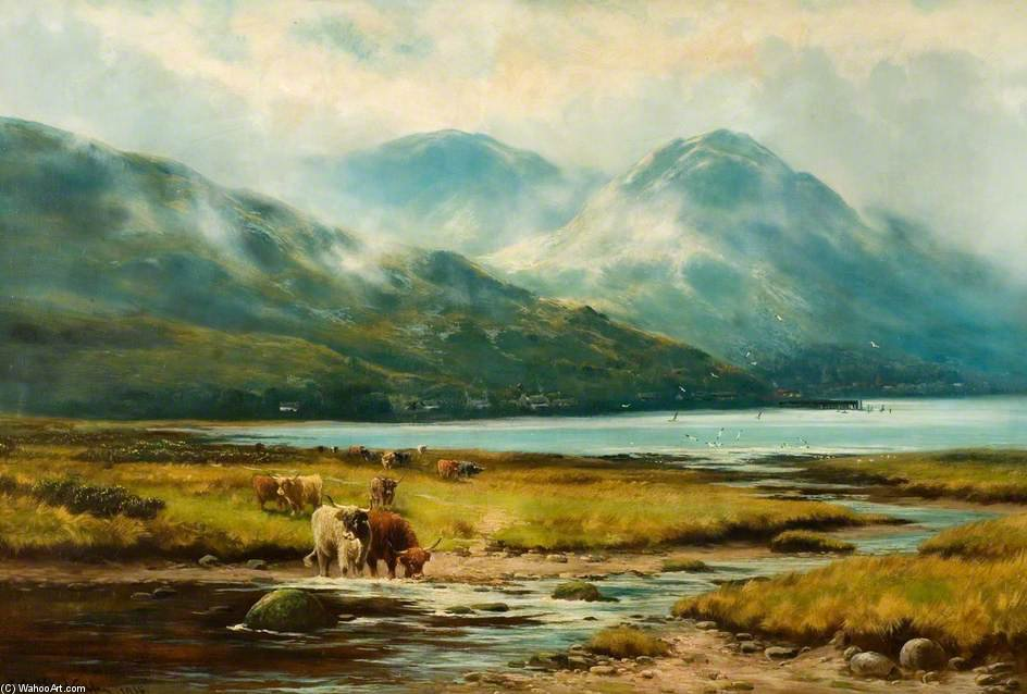 Утренние туманы, Arrochar по Henry Hadfield Cubley (1858-1934, United Kingdom)