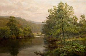 Henry Hadfield Cubley - On The Derwent, Дербишир