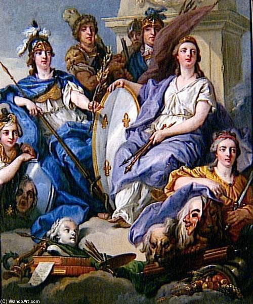 Allegorie Ду Pacte Де Famille по Jean Baptiste Lallemand (1716-1803, France)